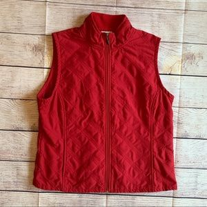 Columbia Red Quilted Vest Women's puffer XL
